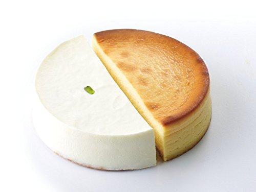 カラベル美里店レアチーズケーキとベイクドチーズケーキのハーフ&ハーフ