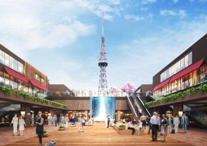 もちのき広場からのテレビ塔